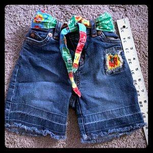 THE CHILDREN'S PLACE - 12 mo - Denim Shorts+belt❣️